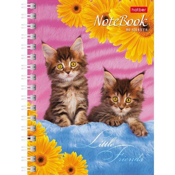 Записная книжка 80л А6ф клетка на гребне серия  Милые Котята хатбер оптом купить ростов канцтовары